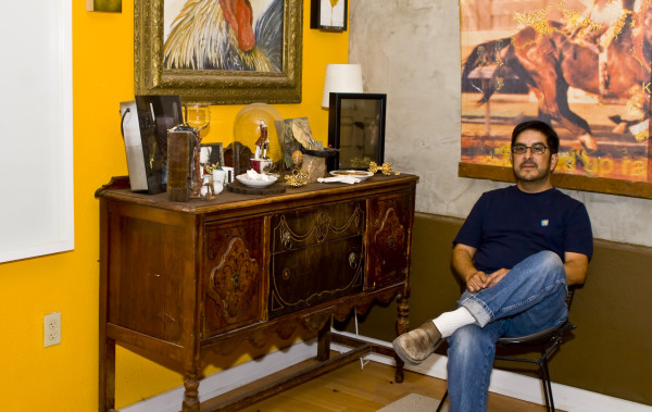 Local artist and entrepreneur Andy Benavides at his residence.