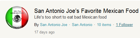San Antonio Joe Guides on Foodspotting