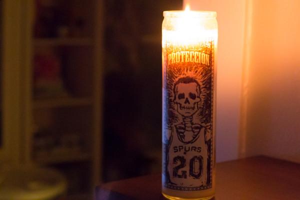 San Antonio Spurs Lit Veladora Candle