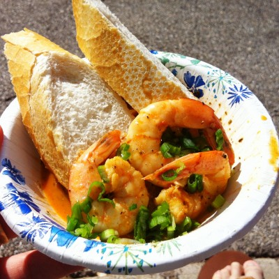 The NOLA style BBQ shrimp from Where Y'at stole the judges, crowd and this average Joe's heart.