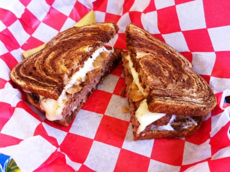 The patty melt from The Brown Bag in Del Rio, TX