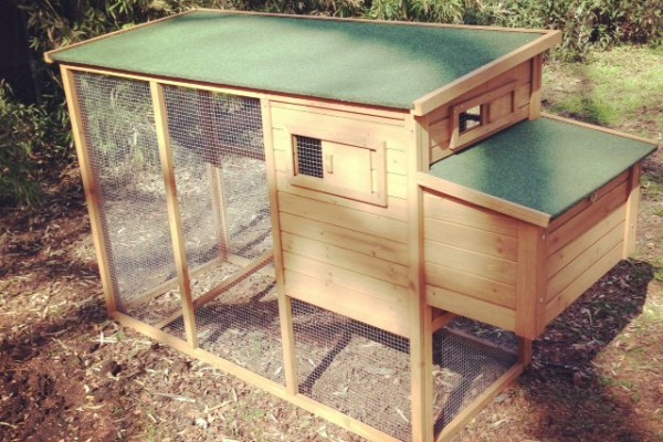 Our completed chicken coop!