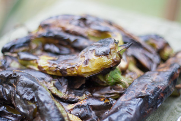Hatch Green Chiles Roasted