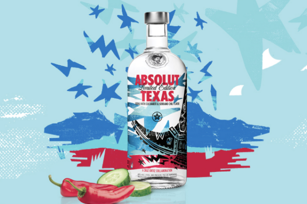 Absolut Texas Cruz Ortiz Bottle