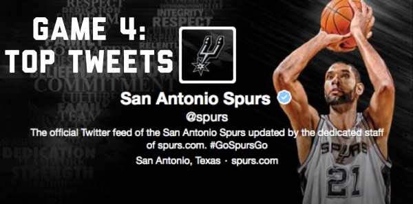 Spurs Game Four Top Tweets