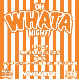 Whataburger Foodbank 2015