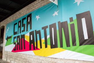 ¡Bienvenido a Casa San Antonio! Our SXSW 2016 presence. Photo by Garrett Heath.