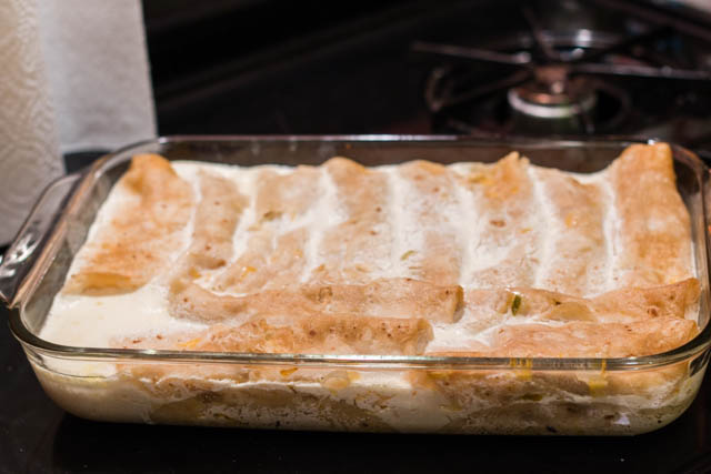 Green Chile Sour Cream Chicken Enchiladas – Green Chile Post 3