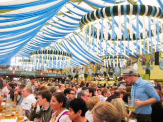 View from my table at Oktoberfest. And this is only half of the building! Photo courtesy of Ray Linares.