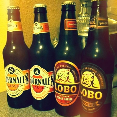 The four beers of the Pedernales Brewing Company.