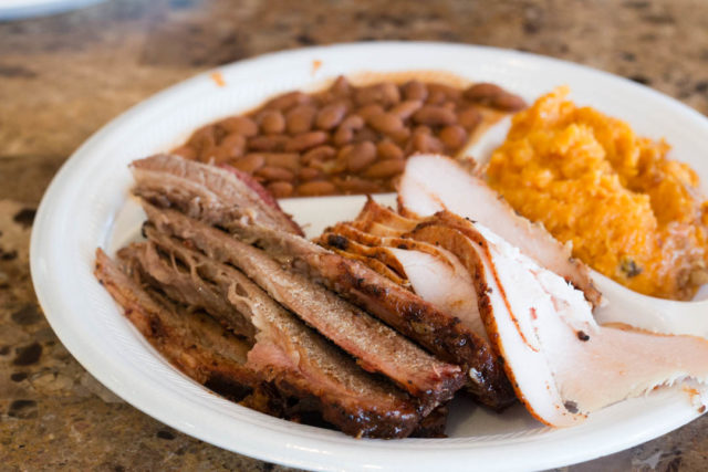 Big Bib-Brisket Smoked Turkey Sweet Potatoes
