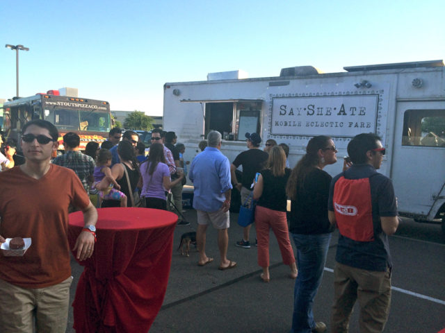 Culinaria 2014 Food Truck Event Say She Ate drew a large crowd