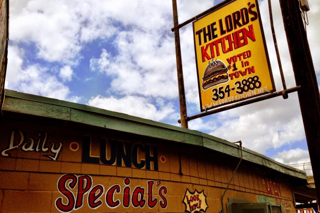 Lord's Kitchen San Antonio Burger Sign