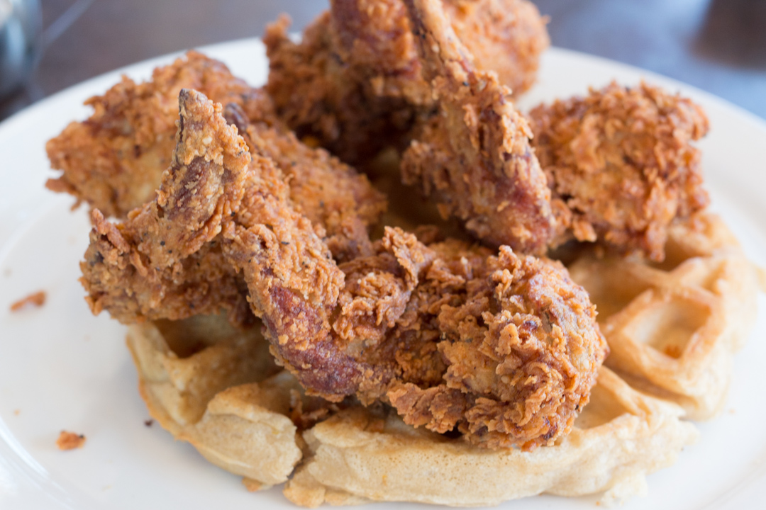 Chicken 'n' Waffles at Max's Wine Dive