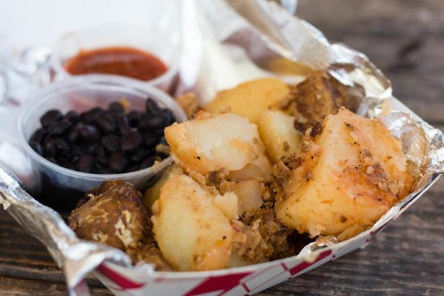 La Vaquera—Tempeh Sausage and Potatoes La Botanica