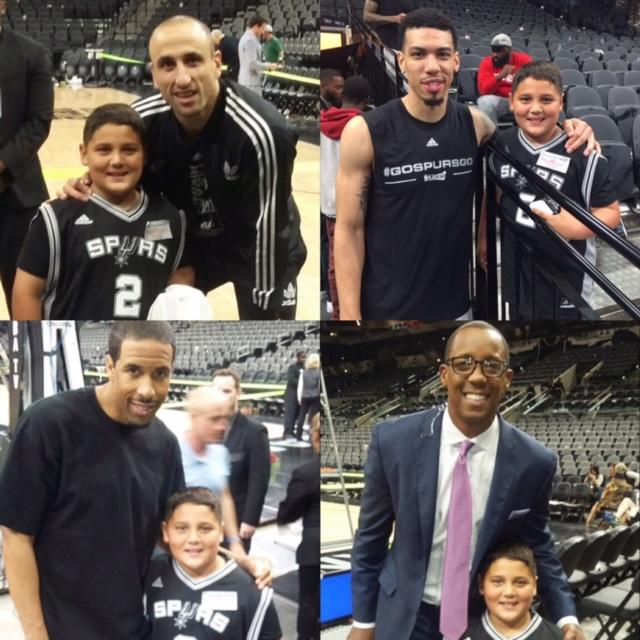 Dancing Kid Meet Spurs