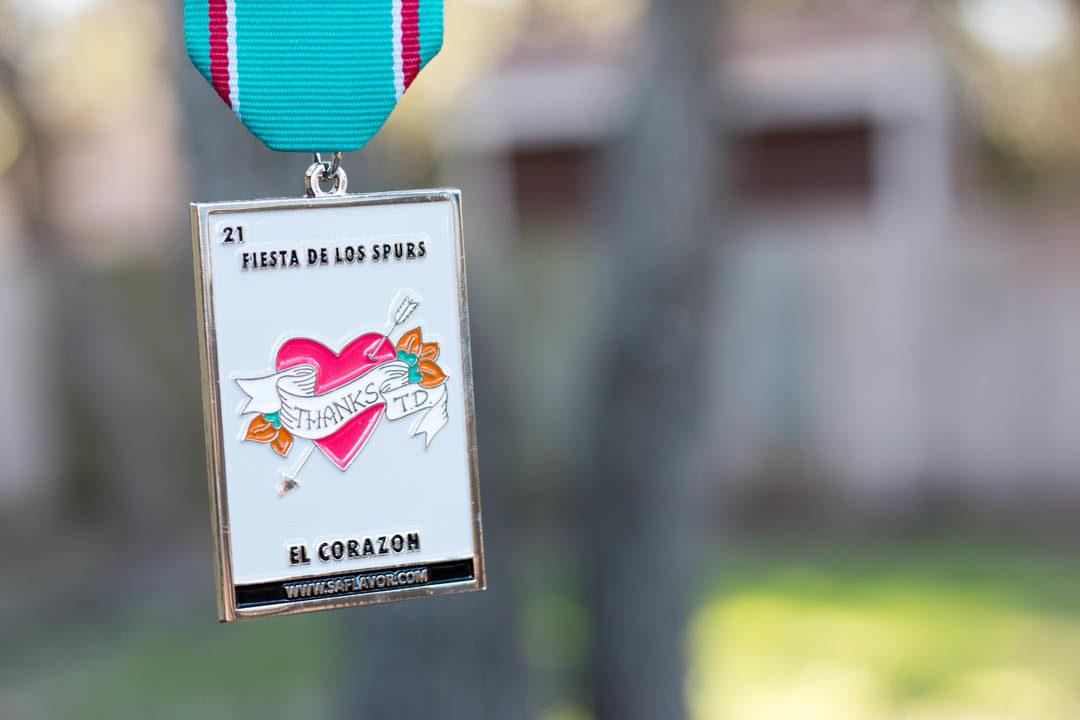 Spurs Inspired El Corazon 2017 Fiesta Medal by SA Flavor