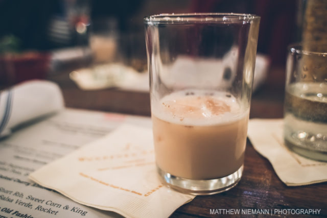 Horchata milk punch.