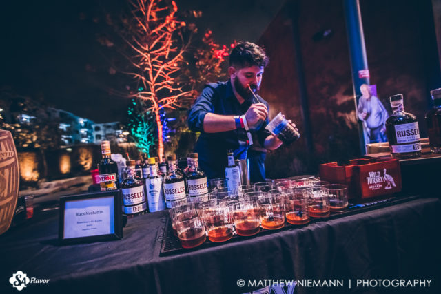 Pouring a Black Manhattan San Antonio Cocktail Conference Opening Party 2017