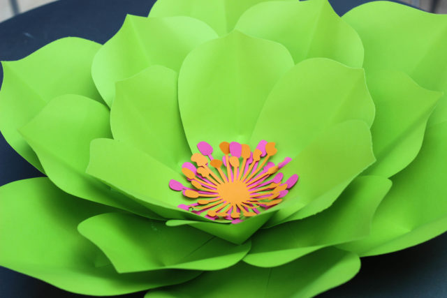 Green Flower Forever Petals by Vee