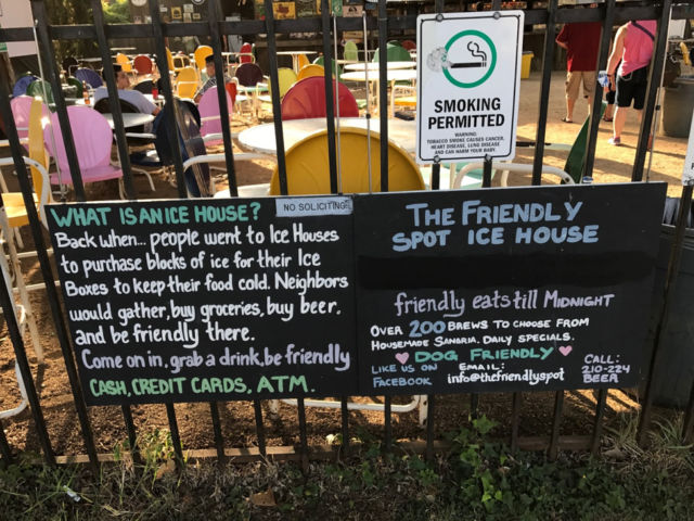 Friendly Spot Sign