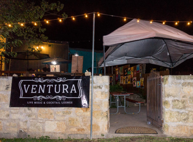 The back patio at the Ventura