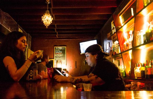 The bar at the Ventura.