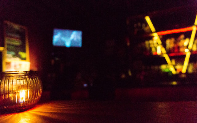 Candle on the bar at the Ventura.
