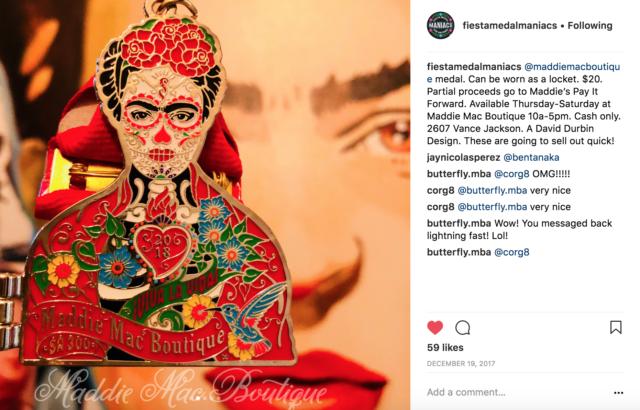 Frida Locket Maddie Mac Boutique David Durbin Fiesta Medals 2018