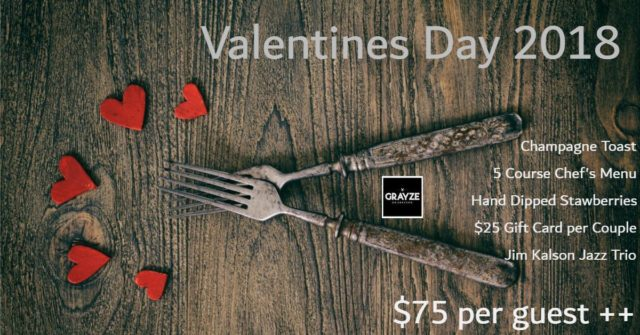 Grayze Chef Dinner Valentines Gift