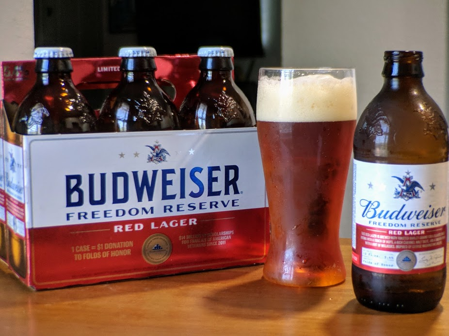 Memorial day brew budweiser freedom reserve red lager for Craft beer store san antonio