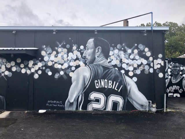 Manu Ginobili Mural Rudy's Seafood by Los Otros